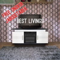 Best Mac Rak TV / TV Cabinet Minimalis uk 120x60 - Putih