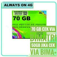 TRI AON KUOTA 70 GB | 4G | KARTU PERDANA INTERNET THREE ALWAYS ON 70GB