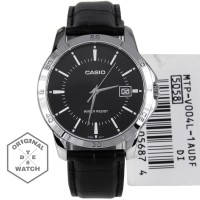 Jam Tangan Pria Casio ORIGINAL MTP V004 Leather 1 Year Guaranted