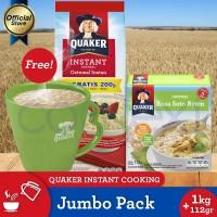 [Buy 1 Free Soto 4s+Mug]Quaker Instant Oatmeal 800+200g(As3p-80221218)