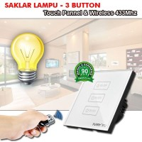 SAKLAR LAMPU I-TOUCH PANEL - WIRELESS 433 MHZ