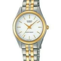 Jam tangan casio LTP1129G-7A bisa couple diameter kecil simple elegan