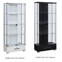 Lemari hias 2 pintu kaca, lemari pajangan, lemari etalase, lemari kaca