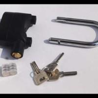 Jual Murah - Kunci Rumah / Motor Gembok Alarm Panjang 12Cm Merek Kinbar Murah