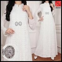 Harga Hemat! Baju Gamis Putih / Busana Muslim / Baju Muslim #80241 Std