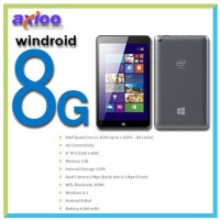 Axioo Windroid 8G Tablet 8 inch Dual OS 32GB Free Wireless Keyboard