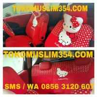 Sarung Jok Mobil 18 in 1 hello kitty lengkap full set depan belakang