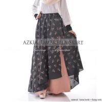 Rok Panjang Payung Muslimah Maxi Azkia Umbrella Skirt Katun Bordir