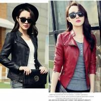 JES-PS1124 jaket jacket vest blazer outwear kulit wanita import korea