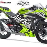 Decal Stiker Ninja 250R Green tech
