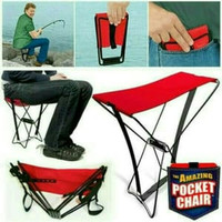 Kursi Lipat Kemah / Kursi Pancing Ikan / Pocket Chair / Kursi Mini