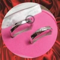cincin kawin emas putih dan perak p769