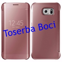 Samsung Galaxy S7 Clear View Luxury Mirror Case / Cover Rose Gold