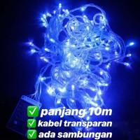 lampu led natal dekorasi , led twinkle light , led string BIRU