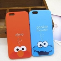 IPhone 8+ 8 plus Elmo Cookie Monster Blue Cartoon Soft Case Casing HP