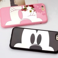 Iphone 8+ 8 plus Couple Mickey Minnie Mirror Cute Hard Case Casing HP