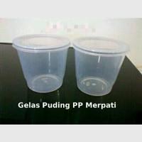 Cup puding, jelly, gelas merpati 150ml