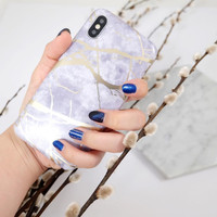 HOLLOGRAM MARBLE CASE IPHONE/CASING HP IPHONE OPPO TERBARU MARBLE CASE