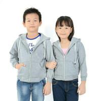 jaket hoodie polos anak cowok cewek 3-11 th banyak pilihan warna