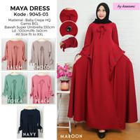 Dress Maxi Cantik Simpel Casual Model Terbaru 666