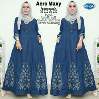 Jual Aero Maxi Dress jeans bordir lebar Murah