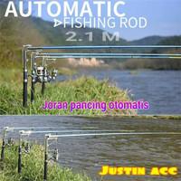 automatic fishing rod 2.1M-joran pancing otomatis stainless-tanpa reel