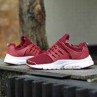 Sepatu Nike Air Presto Marun / Couple Cewek Cowok Pria Wanita Running