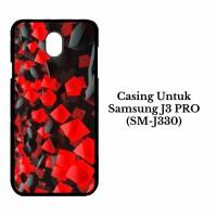 Casing SAMSUNG J3 Pro SM J330 black red tablet Custom Hard Case Cover