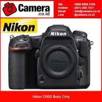 Nikon D500 Body Only - Hitam
