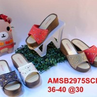 Promo B2975-Scmut Sandal Wanita Sandal Wedges Wanita Bara Bara