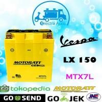 New! Aki Motor Vespa Lx 150 Motobatt Mtx7L Aki Kering / Aki Gel Diskon