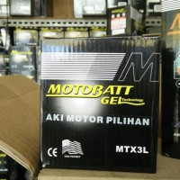 New! Aki Motor Kawasaki Ninja 150 R Motobatt Mtx3L Aki Kering Limited