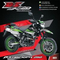 DECAL KLX 250 DTRACKER 250 SUPERMOTO - DECAL STIKER KLX 250