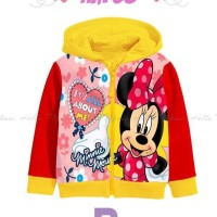 JJP4 Jaket Anak Perempuan Motif Minnie Mouse Fashion Kids Import Murah