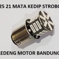 S25 21 Mata Bohlam Lampu Rem Led Motor Mobil Kedip Stobo 12v 10w