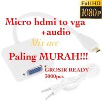 Micro HDMI To VGA + Audio Conversion Cable