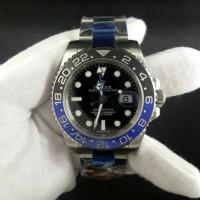 Jam Tangan Non Original Rolex GMT Blue Black Update Version