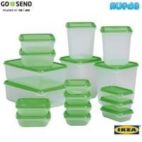(HIJAU) IKEA Pruta, 17 Food Containers Berkualitas