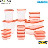 (ORANGE) IKEA Pruta, 17 Food Containers Limited