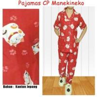 Setelan Pajamas Wanita Cp - Maneki neko - Baju Tidur Wa Murah