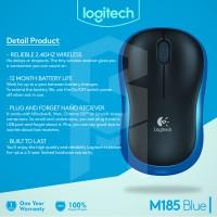 ORIGINAL Mouse Logitech Wireless Mouse M185 Blue