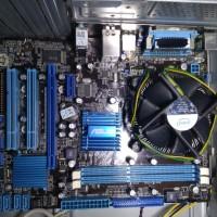 Paketan motherboard mobo asus p5g41t dual core 2 duo e7500 sk-843