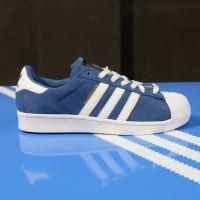 Sepatu Adidas ORIGINAL Superstar Foundation Pack Suede navy white