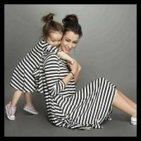 Harga Hemat! Couple Dress Salur Mom Kid Couple Ibu Dan Anak Baju