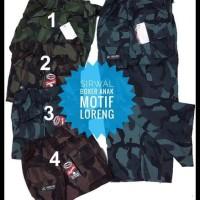 Harga Terbaik! Celana Sirwal Boxer Anak Motif Loreng/Army/Tentara