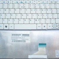 Keyboard Laptop Acer Aspire One D255 D257 D260 D270 Happy Happy2 Putih