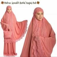 Mukena Spandek Brukat Arafah Pink