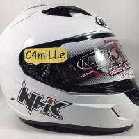 Helm Full Face NHK GP1000 GP 1000 Double visor Racing instinc White