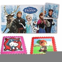 SALE Evamat Puzzle busa Frozen Hello Kitty Angka Huruf Mickey Boboibo