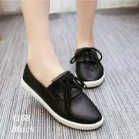 Sepatu Wanita/Bukan Sepatu Nike/Adidas/Sneakers Slip On Tali 827 Hitam